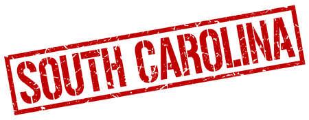 south carolina: South Carolina red square stamp