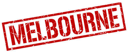 melbourne: Melbourne red square stamp