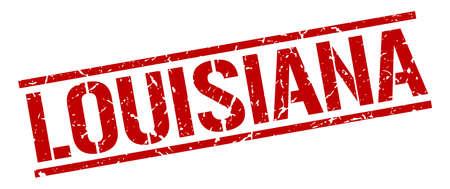 louisiana: Louisiana red square stamp
