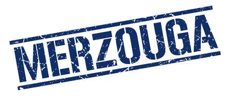 merzouga: Merzouga blue square stamp