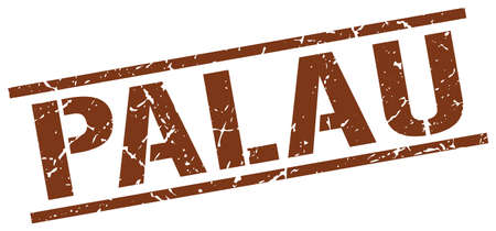 palau: Palau brown square stamp