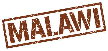 malawi: Malawi brown square stamp