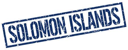 solomon: Solomon Islands blue square stamp