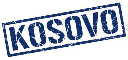 kosovo: Kosovo blue square stamp
