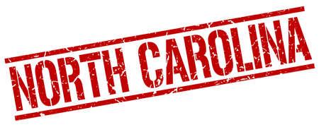 north carolina: North Carolina red square stamp Illustration
