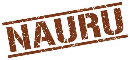 nauru: Nauru brown square stamp