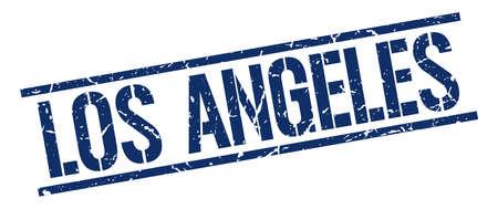 los angeles: Los Angeles blue square stamp