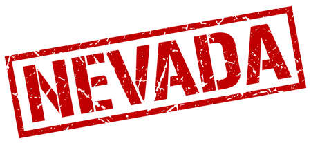 nevada: Nevada red square stamp