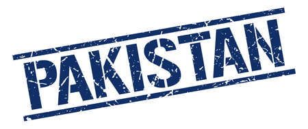 Pakistan: Pakistan blue square stamp