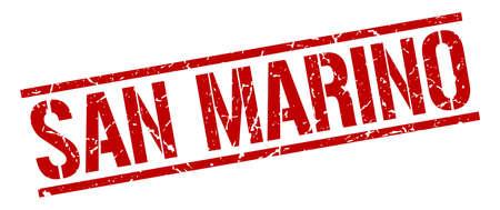 san marino: San Marino red square stamp