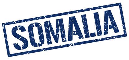 somalia: Somalia blue square stamp Illustration