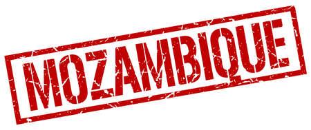 mozambique: Mozambique red square stamp