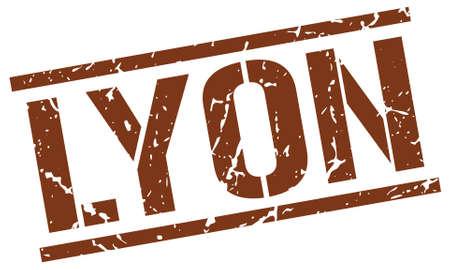lyon: Lyon brown square stamp