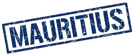 mauritius: Mauritius blue square stamp