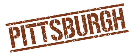 pittsburgh: Pittsburgh brown square stamp
