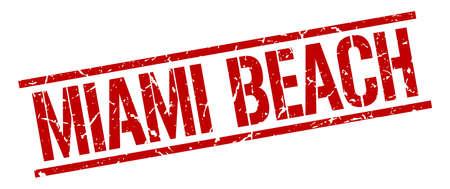 miami: Miami Beach red square stamp