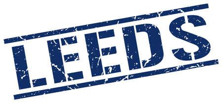 leeds: Leeds blue square stamp