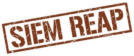 siem: Siem Reap brown square stamp