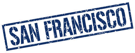 francisco: San Francisco blue square stamp