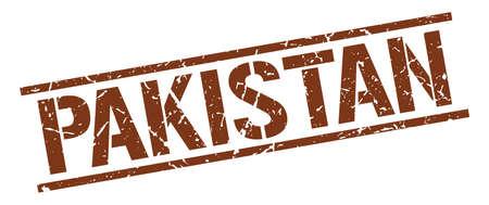 Pakistan: Pakistan brown square stamp