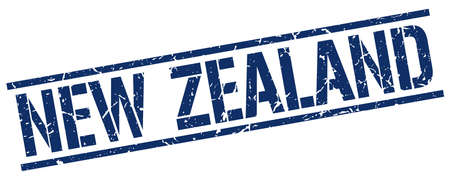 new zealand: New Zealand blue square stamp