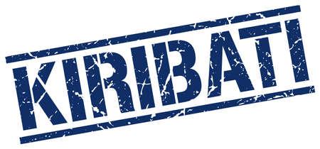 kiribati: Kiribati blue square stamp Illustration