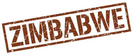 zimbabwe: Zimbabwe sello cuadrado marrón