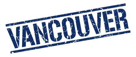 vancouver: Vancouver blue square stamp Illustration