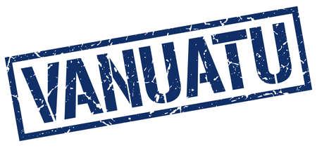 vanuatu: Vanuatu blue square stamp Illustration