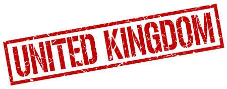 kingdom: United Kingdom red square stamp