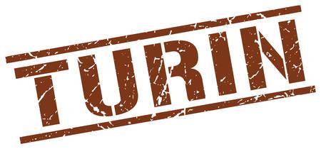 turin: Turin brown square stamp