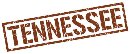 tennesse: Tennessee sello cuadrado marr�n