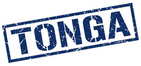 tonga: Tonga blue square stamp