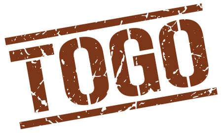 Togo brown square stamp Illustration