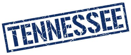 tennesse: sello cuadrado azul Tennessee Vectores