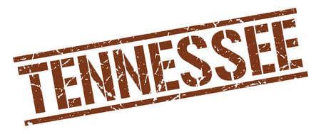 tennesse: Tennessee sello cuadrado marrón