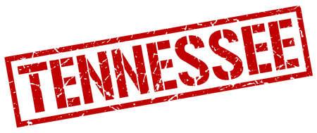 tennesse: sello cuadrado rojo Tennessee