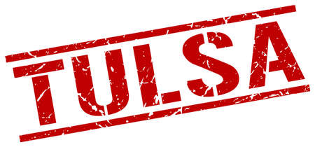 tulsa: Tulsa red square stamp