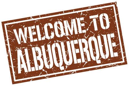 albuquerque: welcome to Albuquerque stamp Illustration