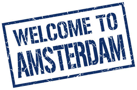 amsterdam: welcome to Amsterdam stamp