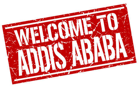 addis: welcome to Addis Ababa stamp Illustration