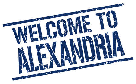 alexandria: welcome to Alexandria stamp Illustration