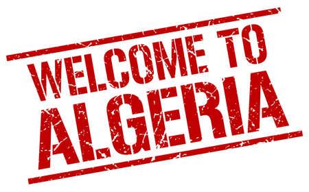 algeria: welcome to Algeria stamp