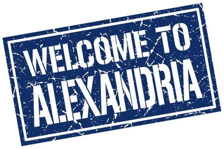 alexandria: welcome to Alexandria stamp Illustration