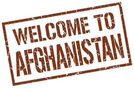 afghanistan: welcome to Afghanistan stamp