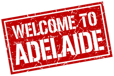 adelaide: welcome to Adelaide stamp