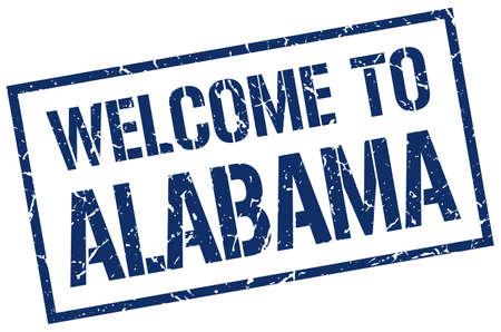 alabama: welcome to Alabama stamp