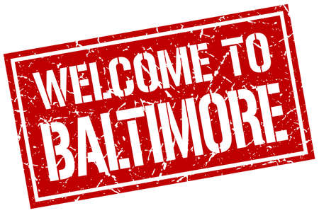 baltimore: welcome to Baltimore stamp