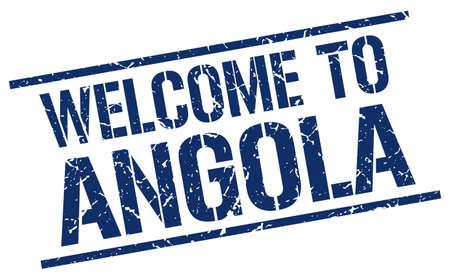 angola: welcome to Angola stamp Illustration