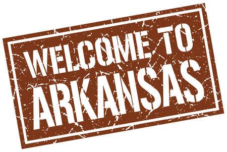 arkansas: welcome to Arkansas stamp